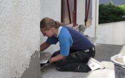 Bijwerken stucwerk buiten