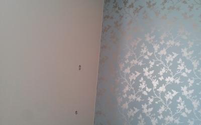 Combinatie schilder- en behangwerk
