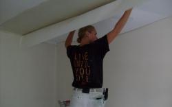 Behangen plafond