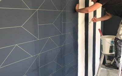 Behang met patroon